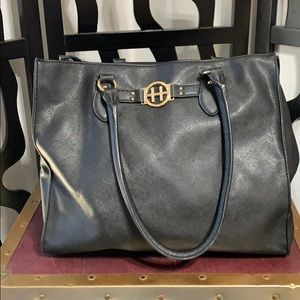 Tommy Hilfiger Black Faux Leather Handbag Purse